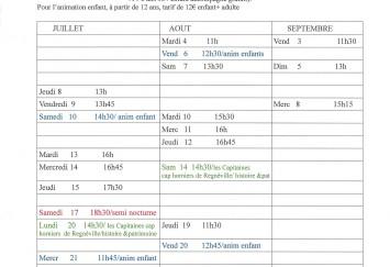 calendrier des traversées du Havre de Sienne